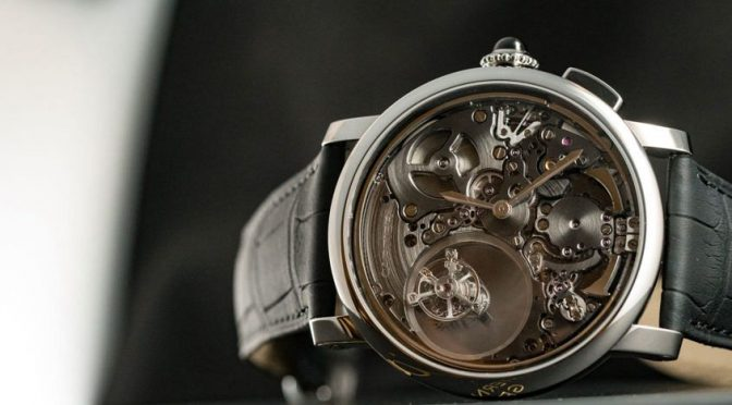 Rotonde de Cartier Minute Repeater Mysterious Double Tourbillon Replica Watches For Sale