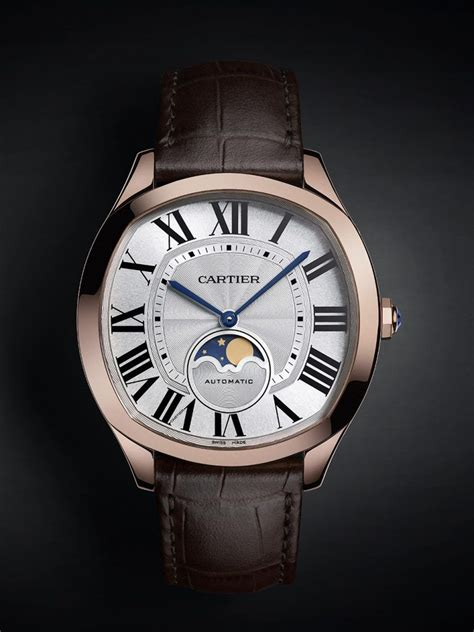 The luxury fake Drive De Cartier WGNM0008 watches are made from 18k rose gold and can guarantee water resistance to 3 bars.