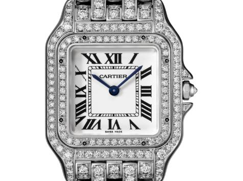 The well-designed replica Panthère De Cartier HPI01130 watches have silver-plated dials.