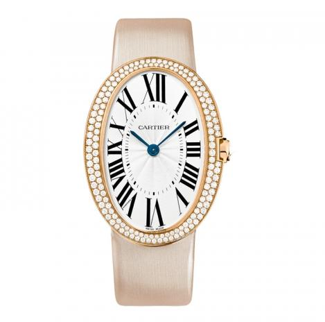 The luxury replica Cartier Baignoire WB520005 watches are made from 18k red gold.