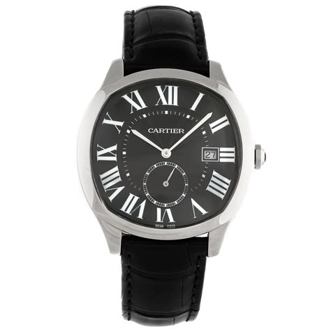 The 40 mm fake Drive De Cartier WSNM0009 watches have black dials.