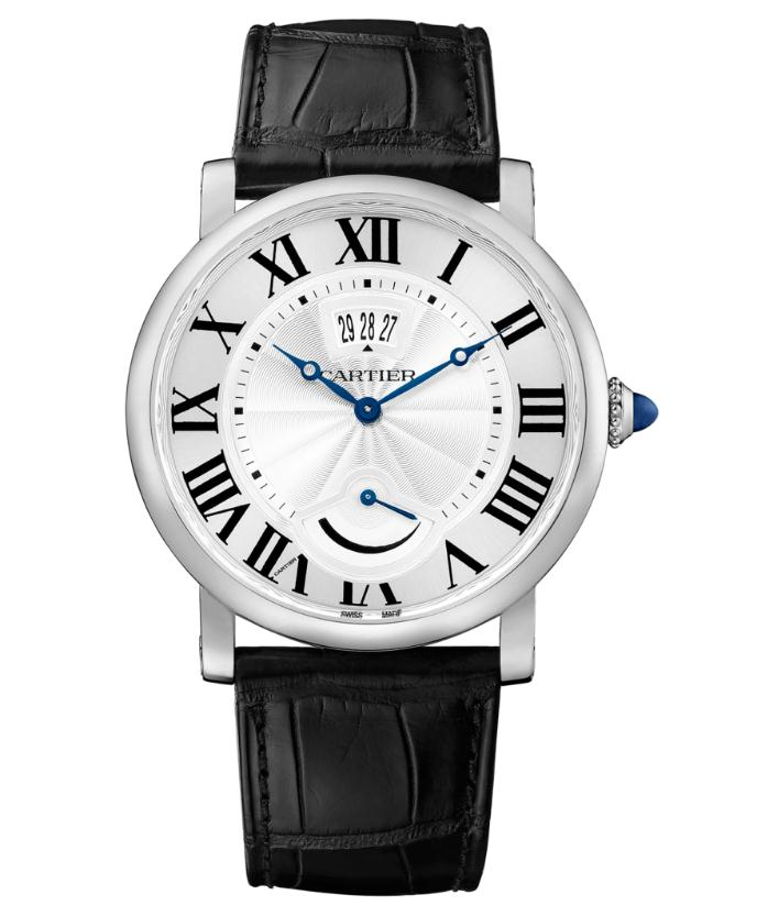 The 40 mm copy Rotonde De Cartier W1556369 watches have silver-plated dials.