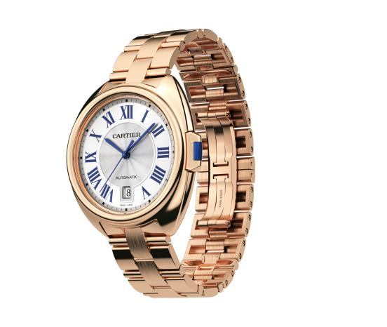 The popular copy Clé De Cartier WGCL0020 watches have typical key-shaped crowns.