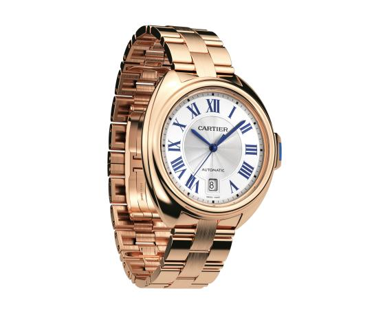 The precious fake Clé De Cartier WGCL0020 watches are made from 18k rose gold.