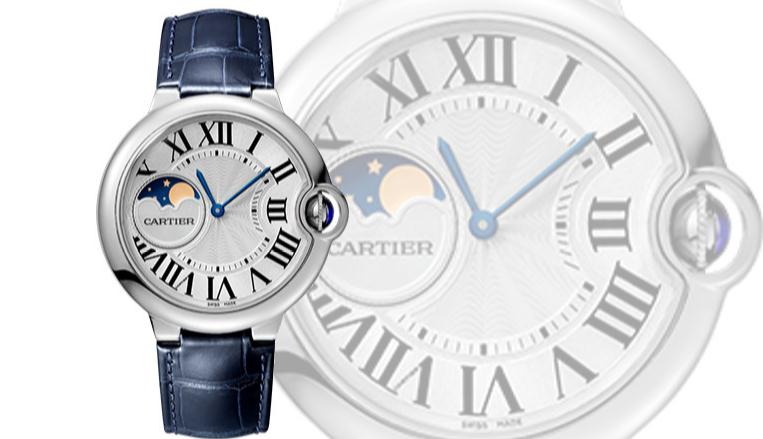 The 37 mm fake Ballon Bleu De Cartier WSBB0020 watches have silver-plated dials.