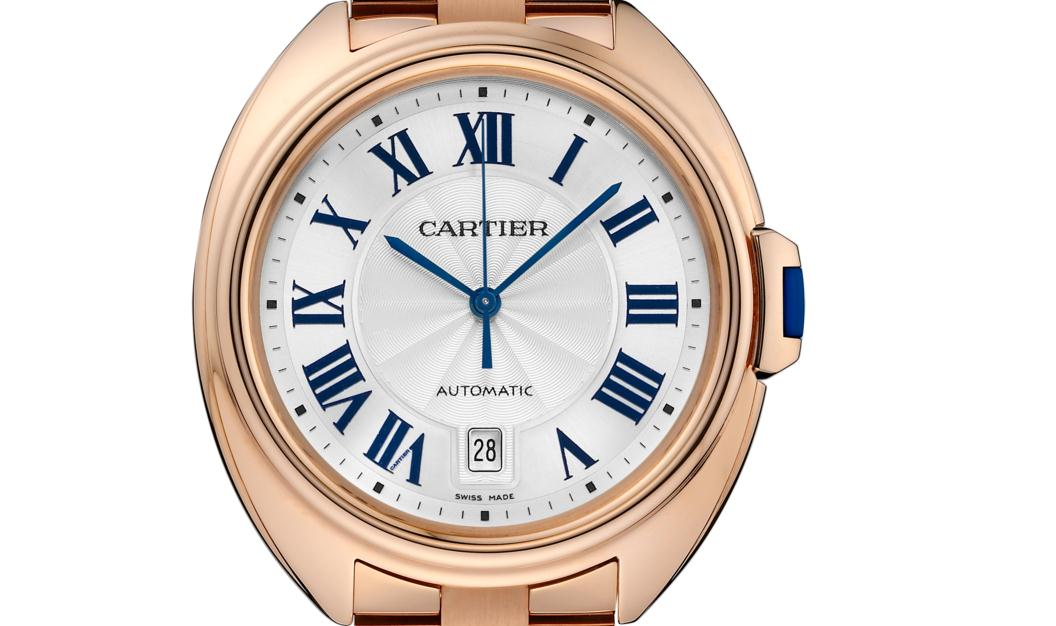 The 40 mm replica Clé De Cartier WGCL0020 watches have silver-plated dials.