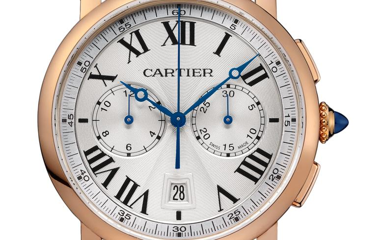 The 40 mm replica Rotonde De Cartier W1556238 watches have silver-plated dials.