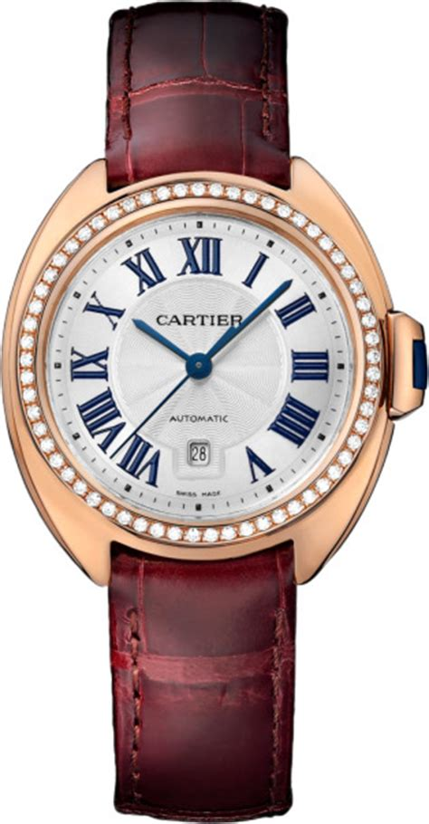 The luxury fake Clé De Cartier WJCL0047 watches are made from 18k rose gold.