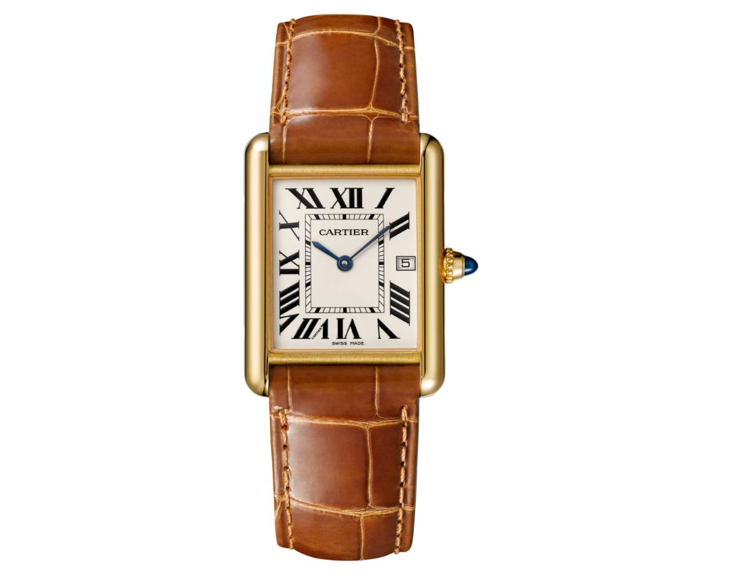 The luxury fake Cartier Tank Louis Cartier W1529756 watches are made from 18k yellow gold.