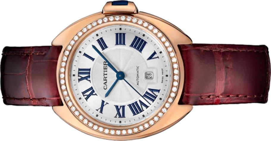 The copy Clé De Cartier WJCL0047 watches decorated with diamonds are worth for females.