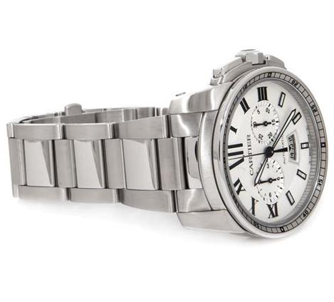 The durable fake Calibre De Cartier W7100045 watches are made from stainless steel.