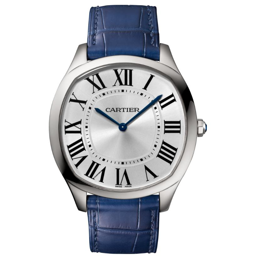 The sturdy fake Drive De Cartier WSNM0011 watches are made from stainless steel.