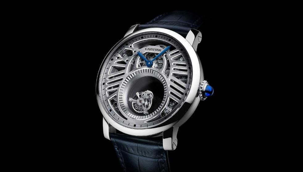 The limited replica Rotonde De Cartier watches are made from platinum.