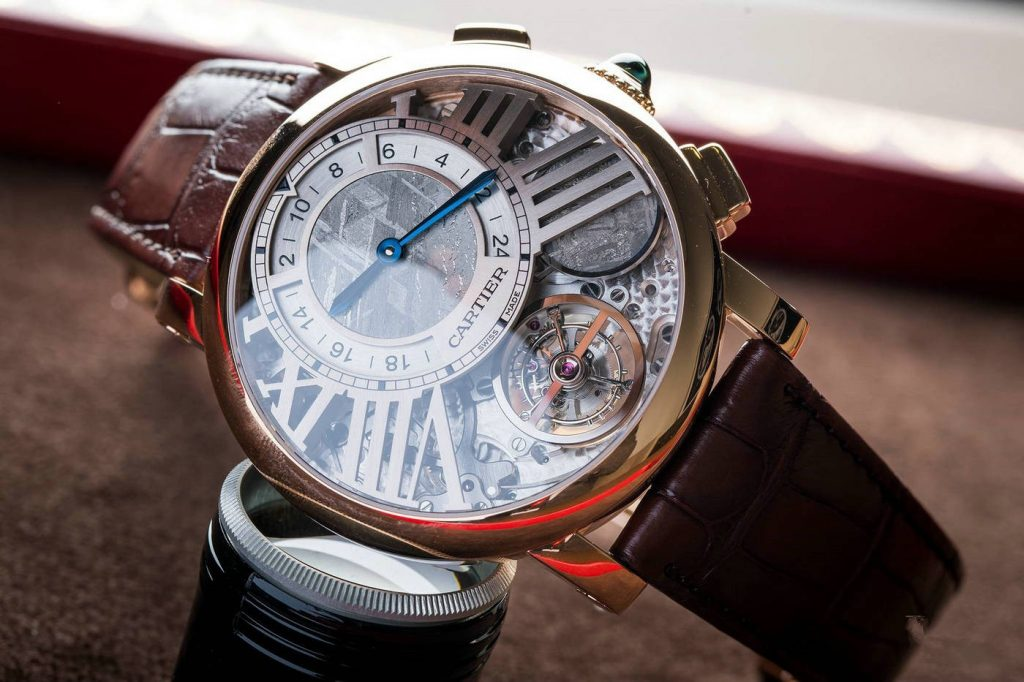 The luxury fake watches are made from rose gold.