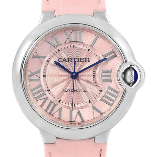 The female copy watches have pink dials.