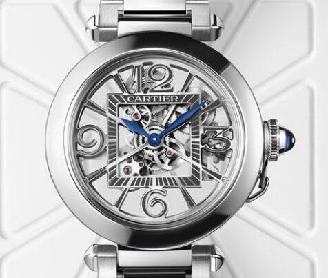 The skeleton dial allows the wearers to enjoy the movement.
