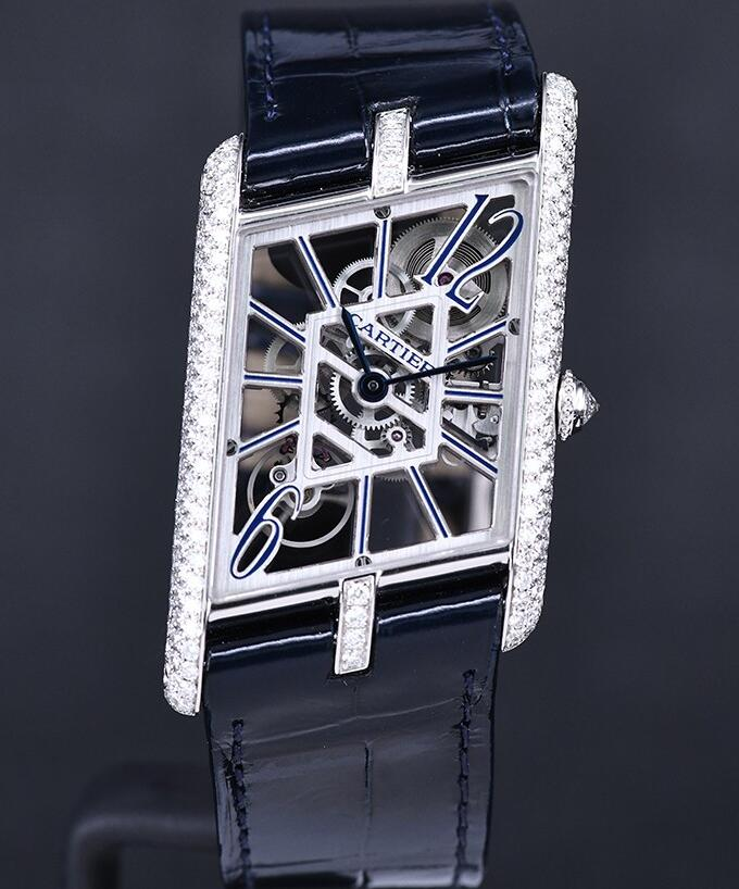 The diamonds on the case of best fake Cartier add the feminine touch.