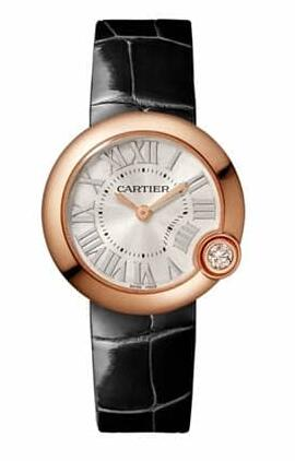 Rose gold material make the Cartier replica watches very pretty and popular.