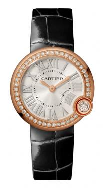 Swiss fake Ballon Blanc De Cartier watches are suitable for ladies with rose gold and diamonds for the cases.
