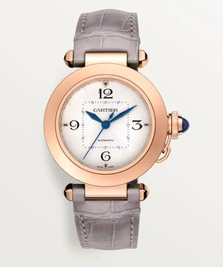 Swiss made imitation watches are typical and clear with blue hands.